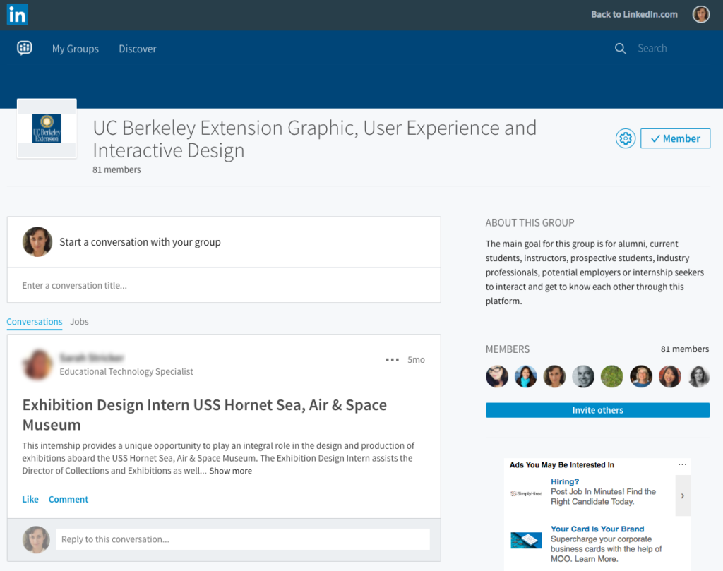 LinkedIn Group - Discussion