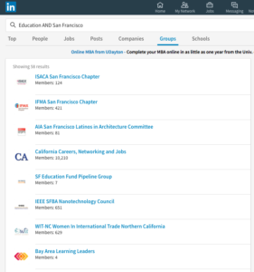 LinkedIn Groups - Search
