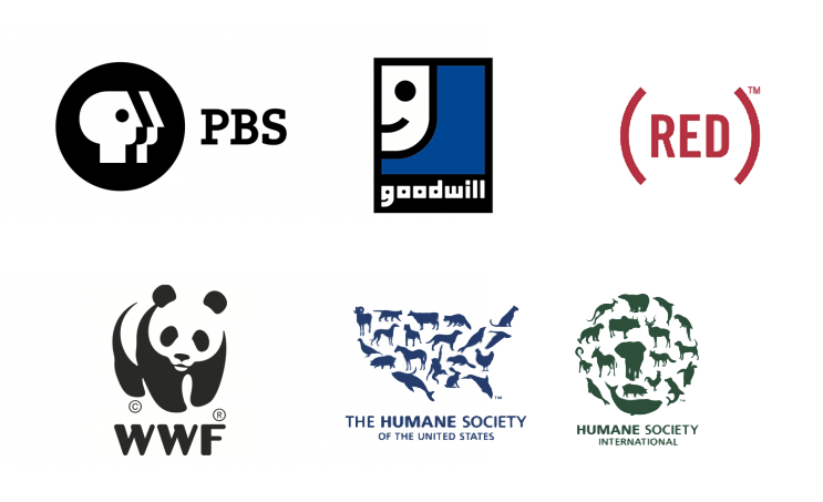 Some successful and instantly recognizable nonprofit logos.