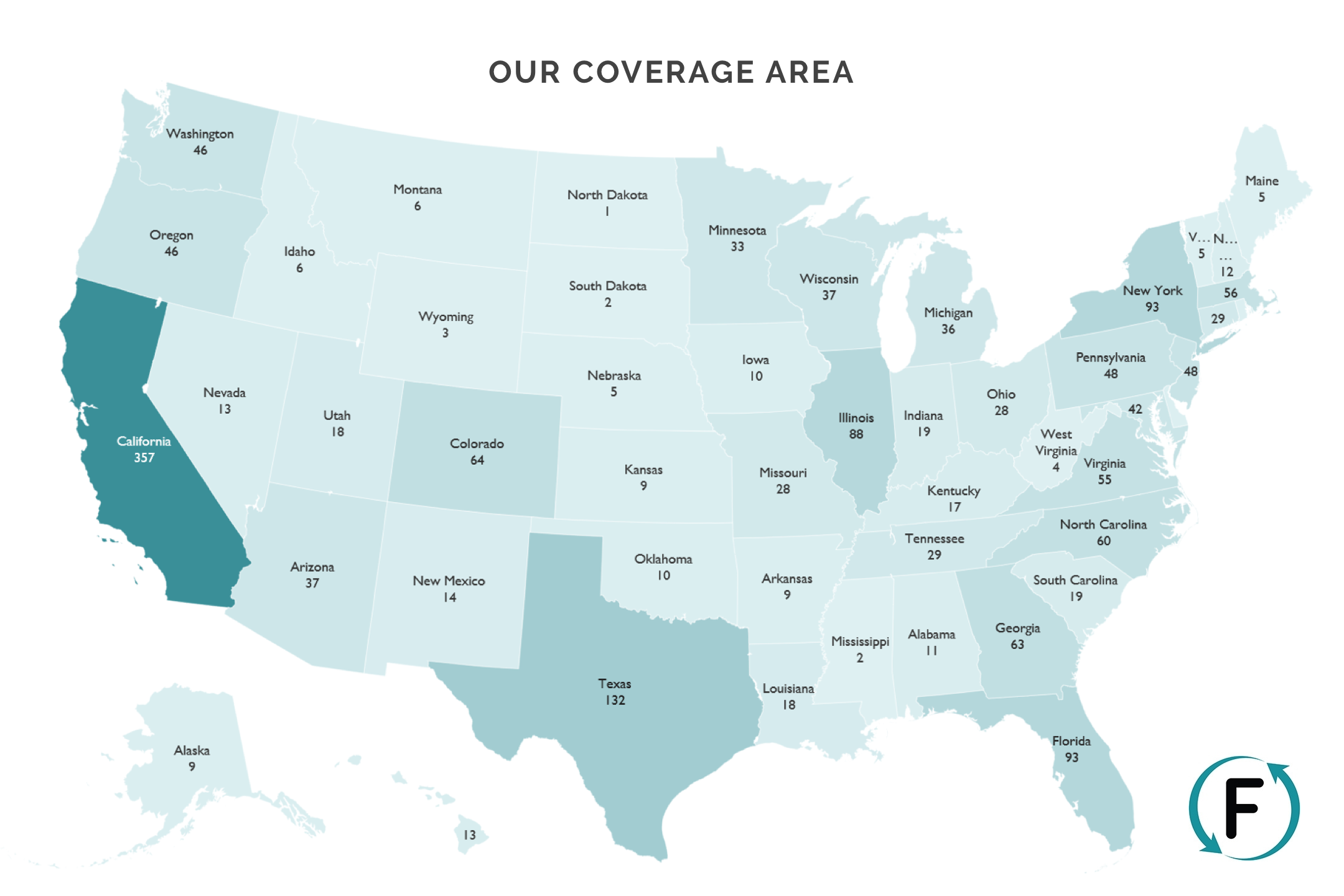 Flipcause Coverage Map 2017