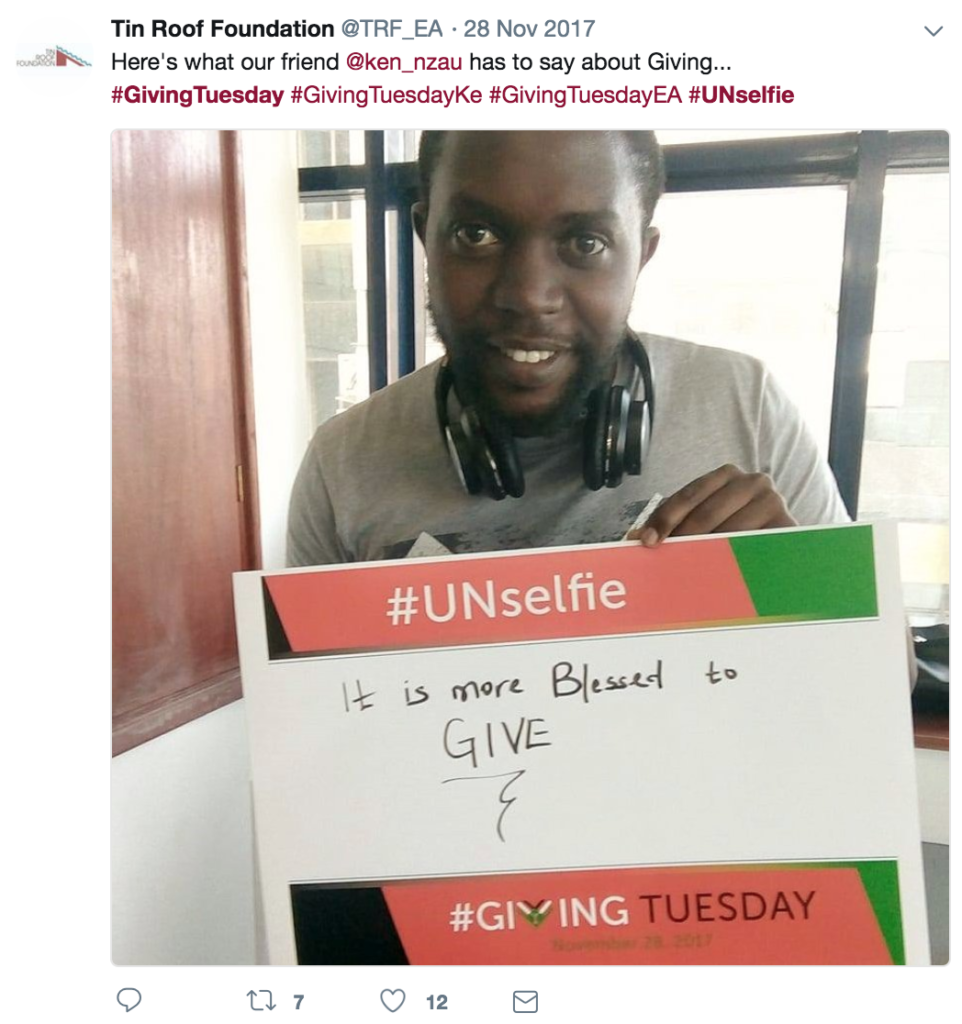 giving tuesday ideas unselfie 2